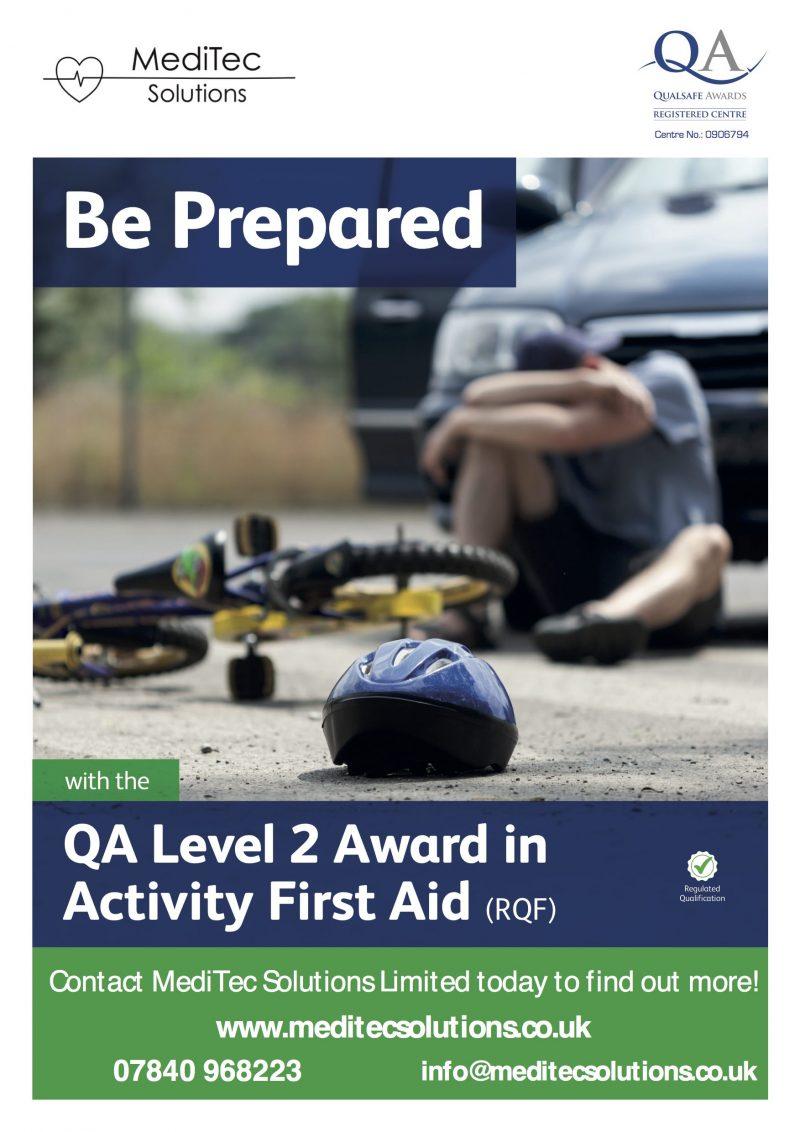 QA Level 2 Award in Activity First Aid Training