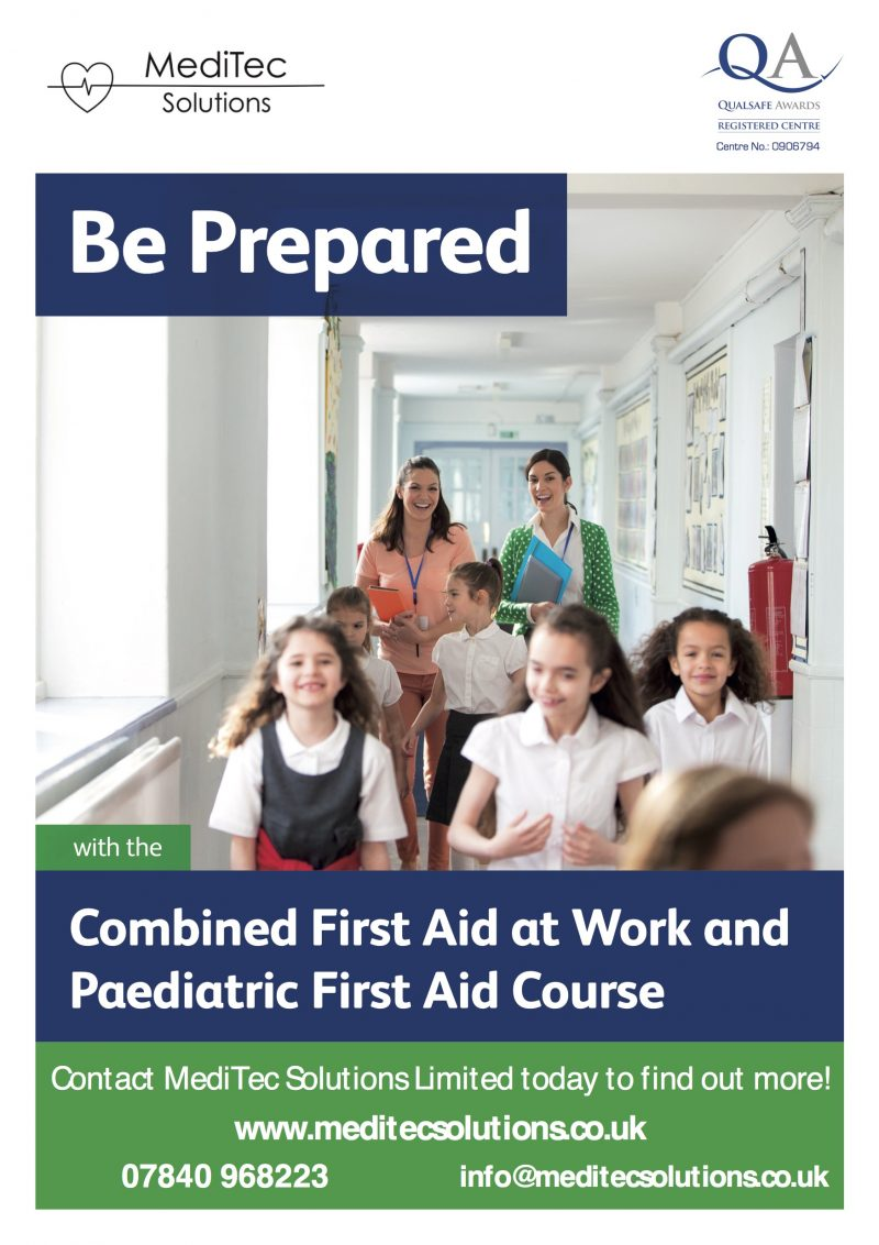 Combined First Aid at Work and Paediatric First Aid Course Training