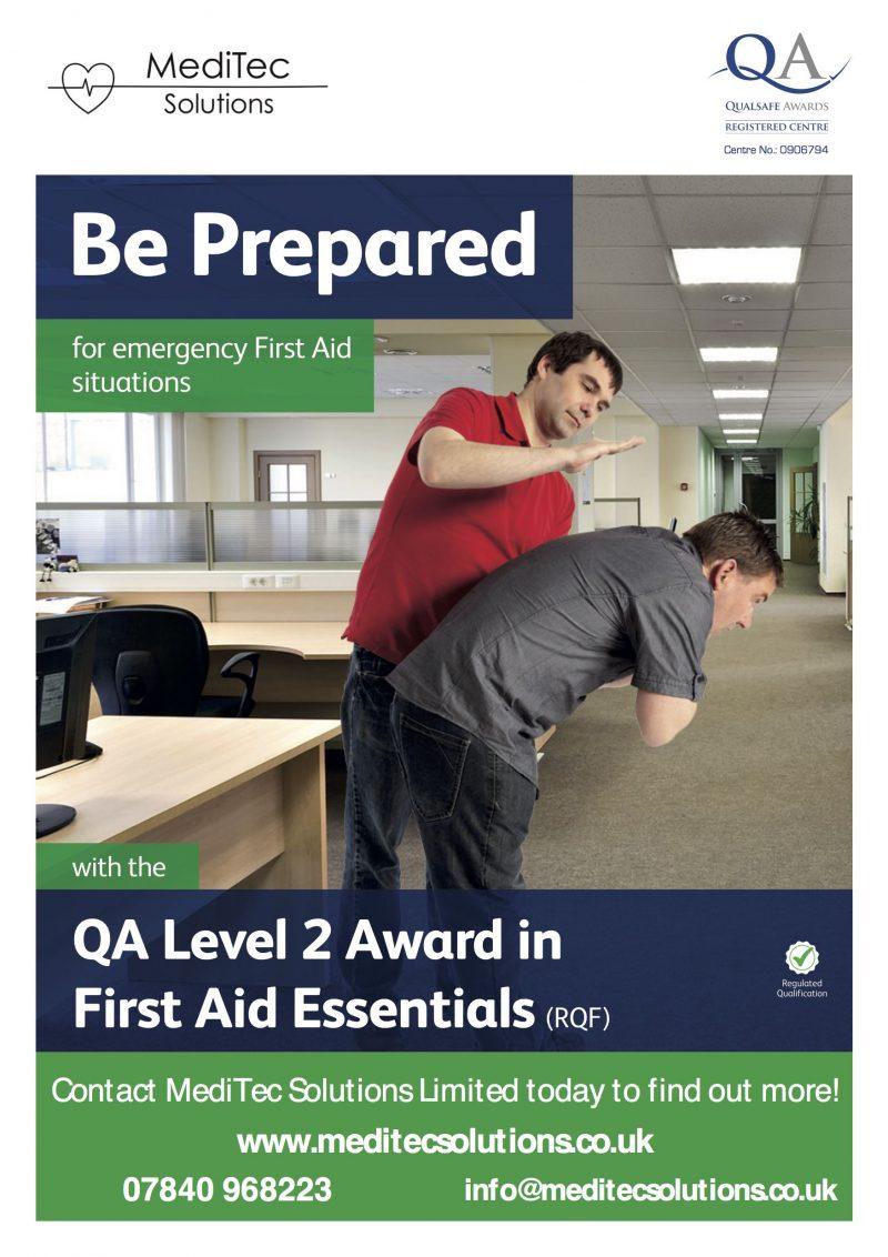 QA Level 2 Award in First Aid Essentials Training