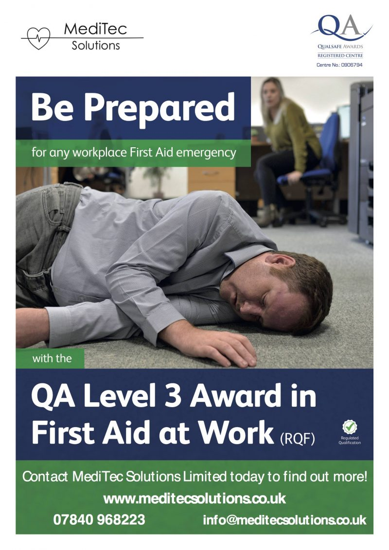QA Level 3 Award in First Aid at Work Training