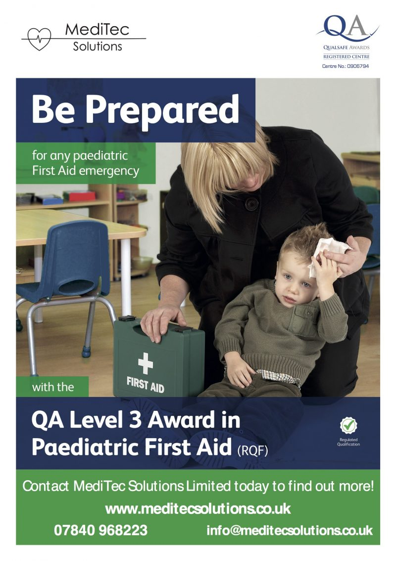 QS Level 3 Award in Paediatric First Aid Training