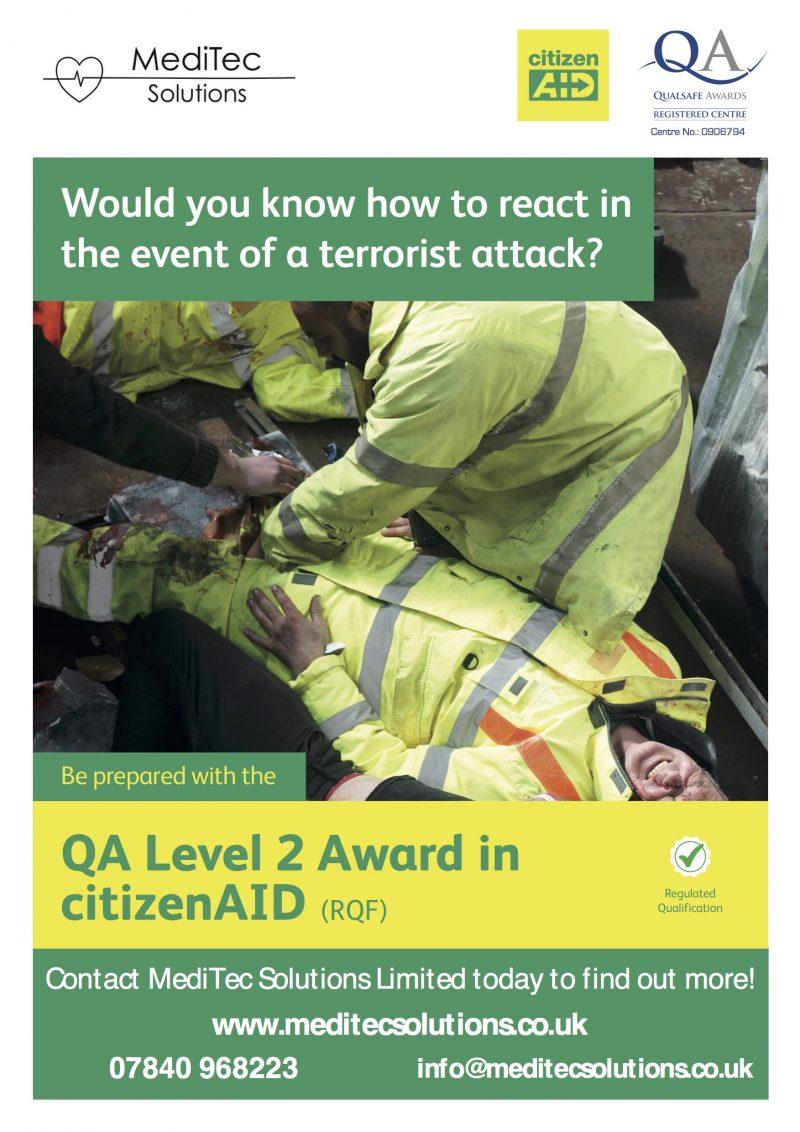 QA Level 2 Award in CitizenAID Training